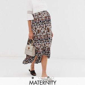 Paisley print skirt - MATERNITY